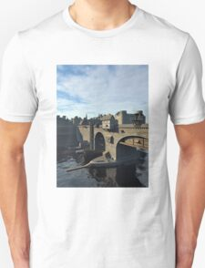 Medieval Bridge and Old Town with Castle Unisex T-Shirt