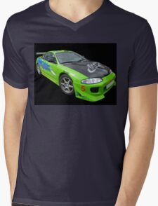 Mitsubishi Eclipse Mens V-Neck T-Shirt