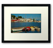 All is Quiet in the Harbor Framed Print
