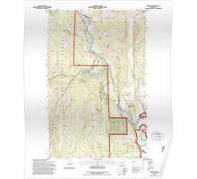 USGS Topo Map Washington State WA Orient 242992 1992 24000 Poster