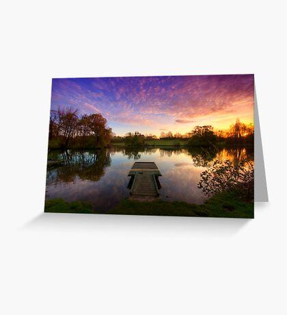 Jetty Sunrise 4.0 Greeting Card