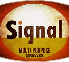 Signal Multi-Purpose Grease vintage sign weathered by htrdesigns