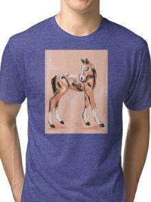 Foal Peach Tri-blend T-Shirt