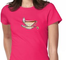 Bathing Mousie Womens Fitted T-Shirt