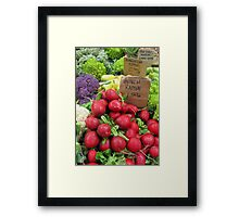 Toronto: Raddishes are Red, Beans are Green... Framed Print
