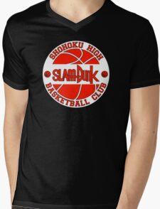Shohoku High Basketball Club Logo Mens V-Neck T-Shirt