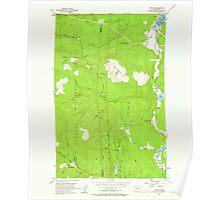 USGS Topo Map Washington State WA Uncas 244409 1953 24000 Poster