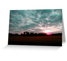 Deutschland Sunset over Rapeseed Field Greeting Card