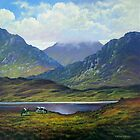 Connemara   Landscape with cattle grazing by Alan Kenny