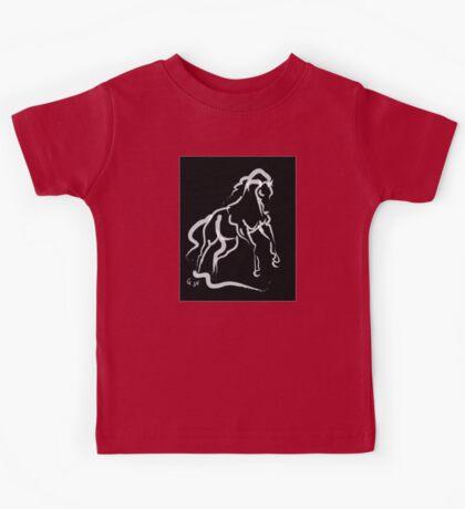 Horse white runner Kids Tee