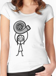 Turbo girl 2 Women's Fitted Scoop T-Shirt