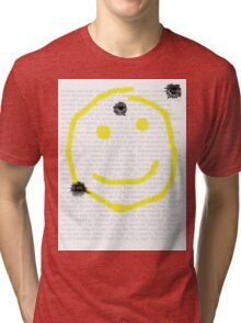 Smile for me Sherlock? Tri-blend T-Shirt