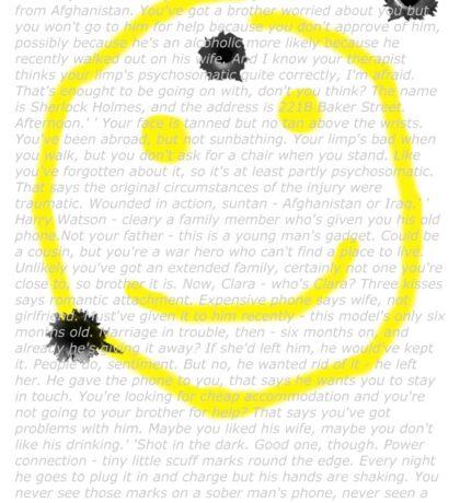 Smile for me Sherlock? Sticker