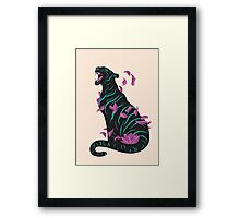 Black tiger Framed Print