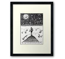 'The Weight of the World is Not Ours to Bear' Framed Print
