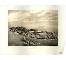 Panoramic Maps Monhegan Me Poster