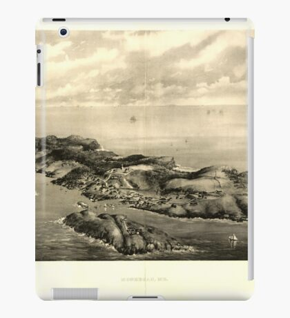 Panoramic Maps Monhegan Me iPad Case/Skin