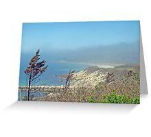 Misty View From Nobska Point - Woods Hole MA Greeting Card