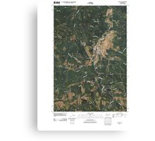 USGS Topo Map Washington State WA Pe Ell 20110406 TM Canvas Print