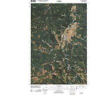 USGS Topo Map Washington State WA Pe Ell 20110406 TM Photographic Print