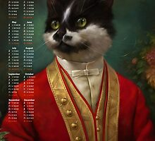 2016 Calendar — The Hermitage Court Waiter Cat by Ldarro