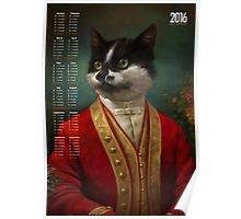 2016 Calendar — The Hermitage Court Waiter Cat Poster