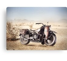 Military Motorcycle Canvas Print