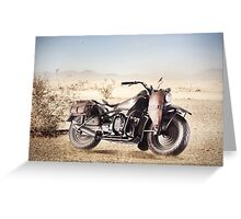 Military Motorcycle Greeting Card