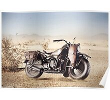 Military Motorcycle Poster