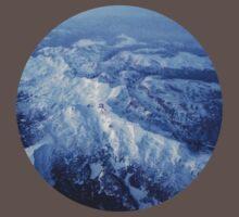 Winter Mountain Range One Piece - Short Sleeve