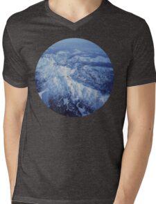 Winter Mountain Range Mens V-Neck T-Shirt