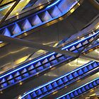 Blue Escalators by biddumy