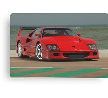 Ferrari F40 LM Michelotto Canvas Print