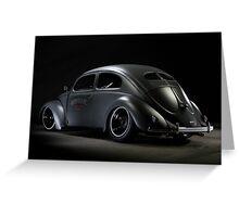 Volkswagen Beetle 1954 Top Chop Greeting Card