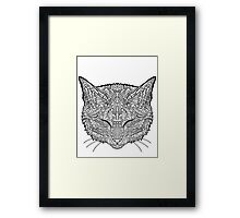 Manx Cat - Complicated Coloring Framed Print