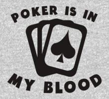 Poker Is In My Blood One Piece - Long Sleeve
