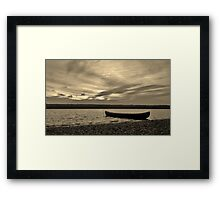 Quiet Canoe Framed Print