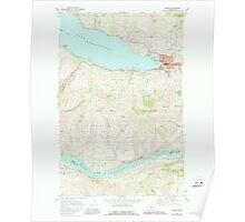 USGS Topo Map Washington State WA Chelan 240450 1968 24000 Poster