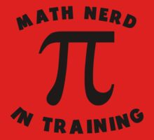 Math Nerd In Training Kids Tee