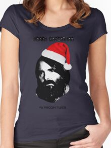 MERRY CHRISTMAS YA FRIGGIN TURDS Phil Miller Tandy Last Man On Earth Women's Fitted Scoop T-Shirt