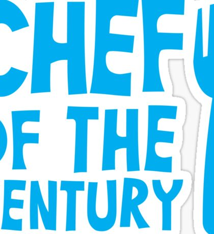 CHEF of the CENTURY! with kitchen fork Sticker