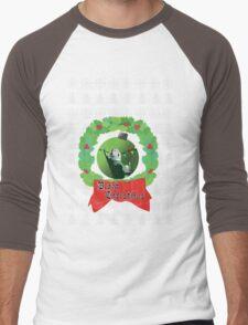 Black Christmas Men's Baseball ¾ T-Shirt