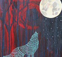 Wolf Moon by erinmeyersart