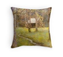 Cades  Cove - Carter Shields Cabin  Throw Pillow
