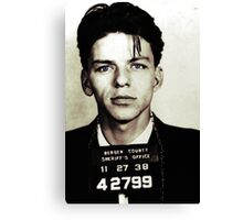 Mugshot Collection - Frank Sinatra Canvas Print