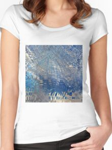 freeze glass with trees Women's Fitted Scoop T-Shirt