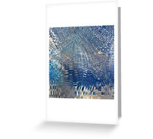 freeze glass with trees Greeting Card