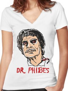 Mani Yack Dr Phibes 2 Women's Fitted V-Neck T-Shirt