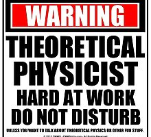 Warning Theoretical Physicist Hard At Work Do Not Disturb by cmmei