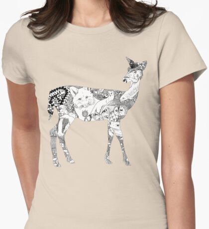 My Wild Side  Womens Fitted T-Shirt